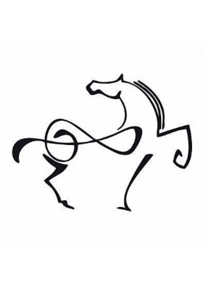 Foulard Dedomusic note musicali bianca e  rosa