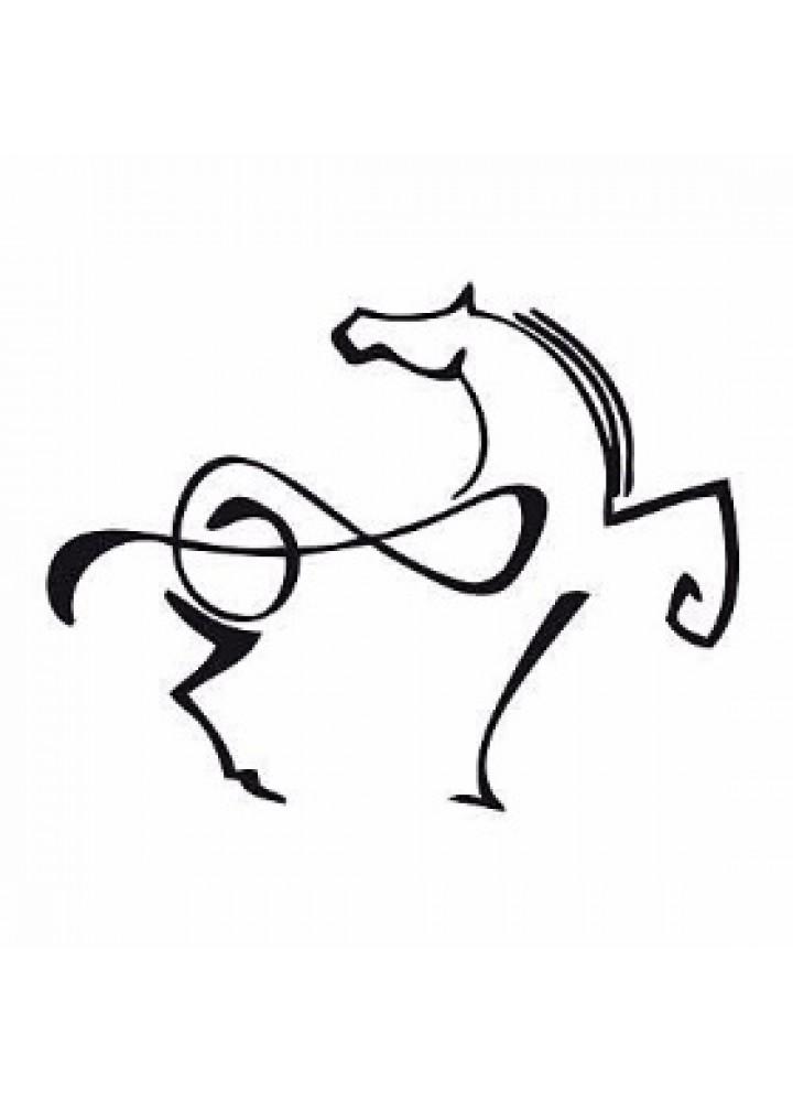 Cravatta DedoMusic black con note musicali oblique white