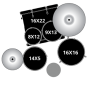"Batteria Mapex Tornado Standard 22"" 5pz Hardware e Piatti royal blue"