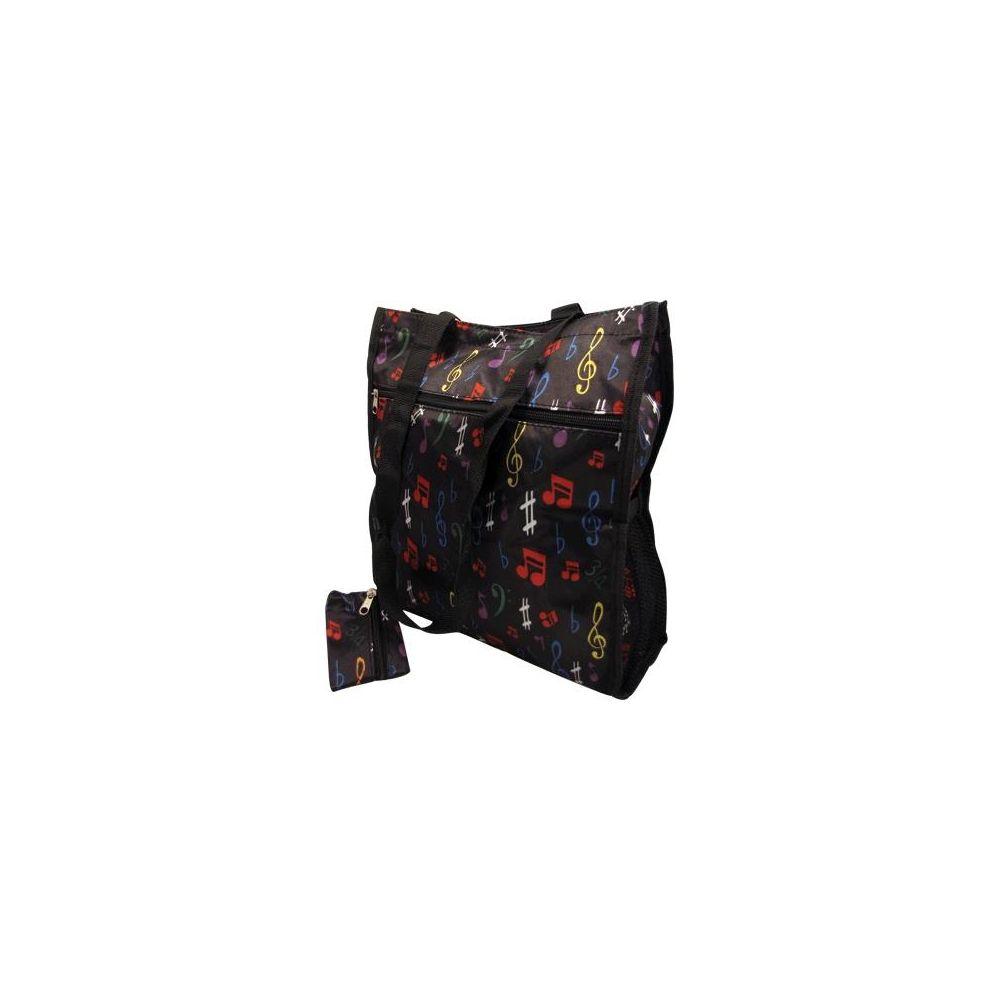 Borsa AimGifts black note colorate con portamonete