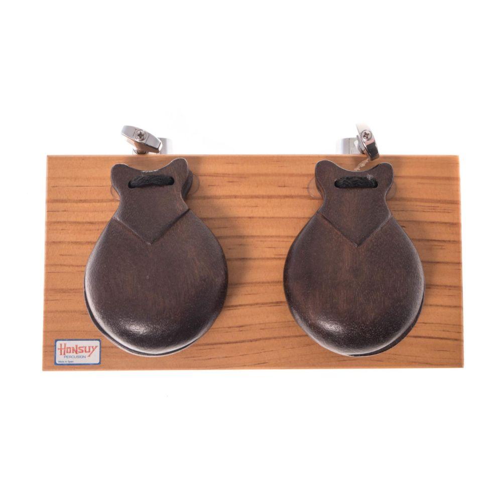 Honsuy 4746 castagnette con base da tavolo in legno scuro