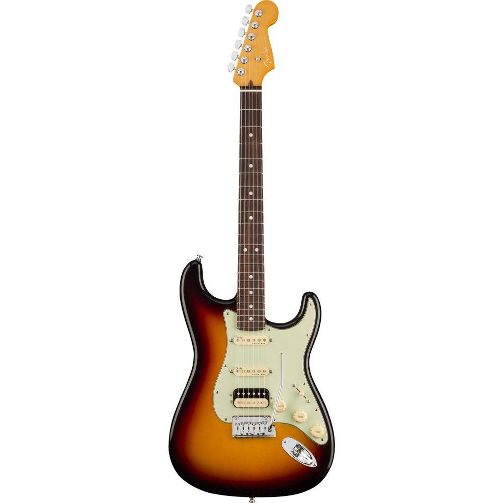 Chitarra elettrica Fender American Ultra Stratocaster hss rw ultraburst con custodia