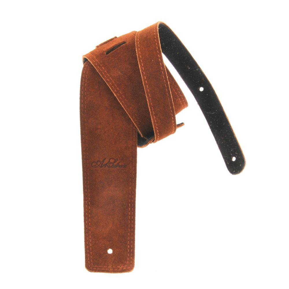 Tracolla chitarra Art&Lutherie Dakota cognac pelle scamosciata con logo