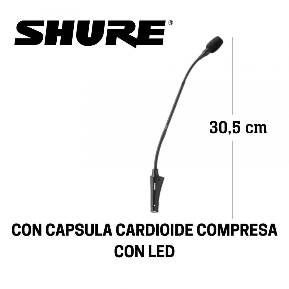 Microfono da tavolo Shure CVG12S-B/C condensatore