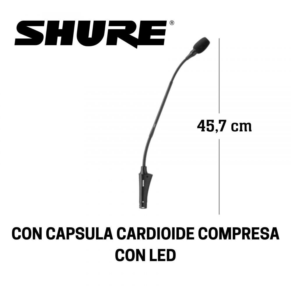 Microfono da tavolo Shure CVG18SBC condensatore con LED