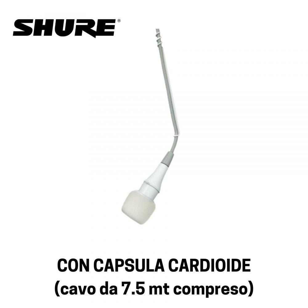 Microfono Shure CVOWC ripresa dall'alto