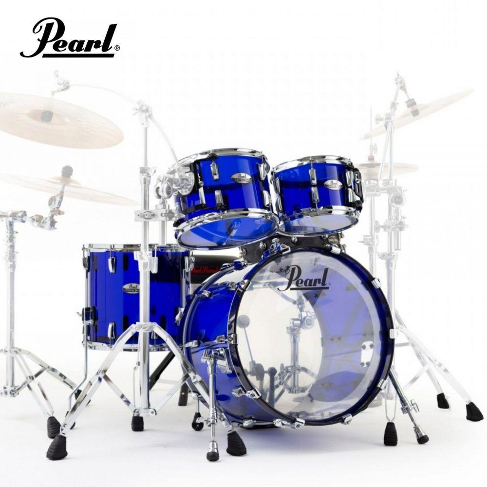 "Batteria Pearl Crystal Beat Studio 22"" 4pz blue sapphire"