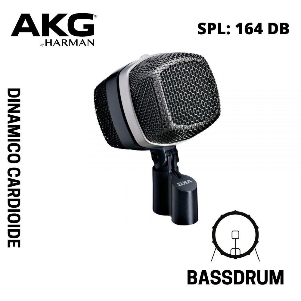 AKG D12 VR microfono dinamico cardioide per cassa grigio