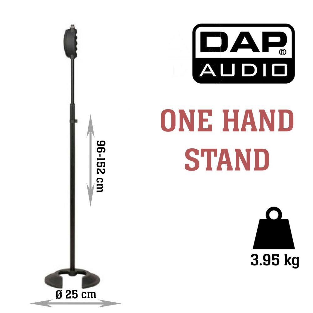 Asta Microfono dritta Dap Audio D8308 h. 95.6/152 cm