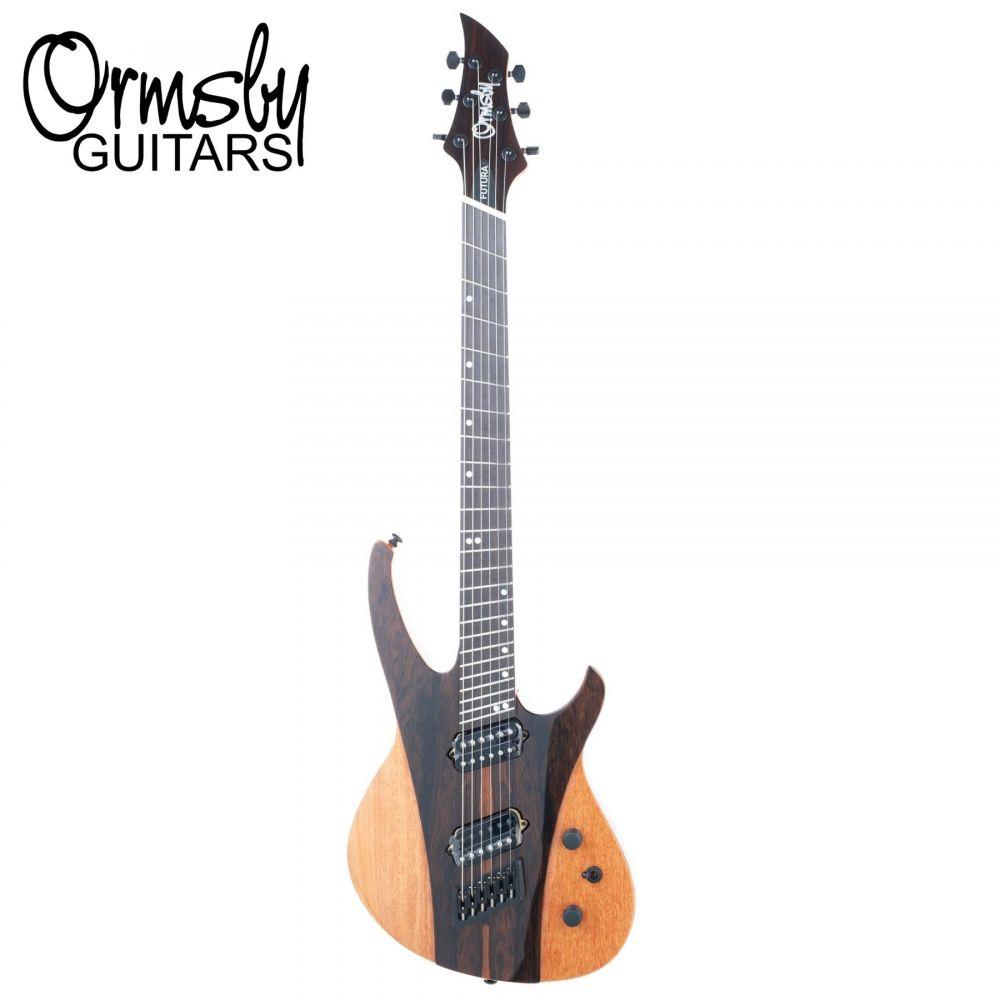 Chitarra Elettrica Ormsby FUTURA ziricote con borsa RUN 10 tastiera multiscala