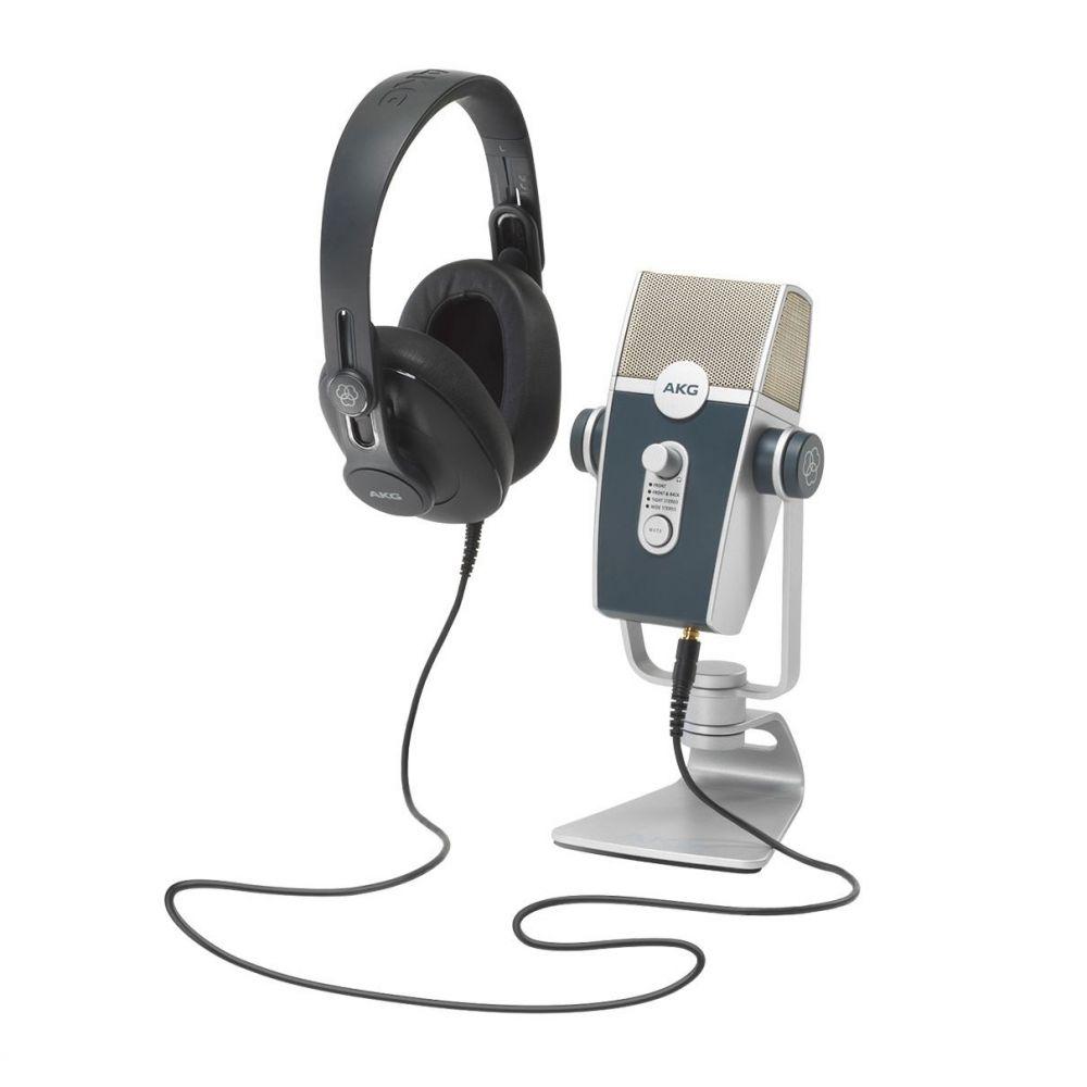 Bundle Podcaster Essential Microfono AKG Lyra usb+cuffia AKG K371