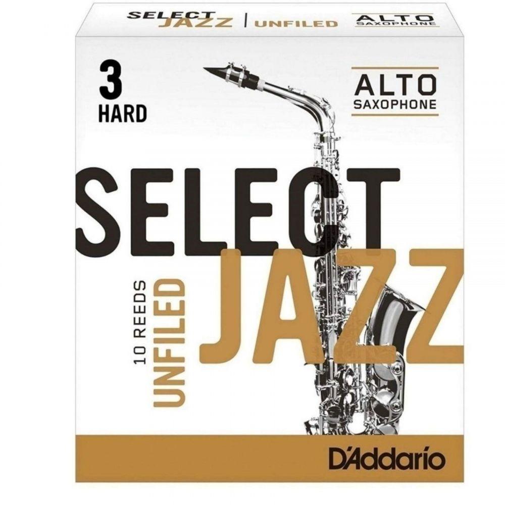 D'Addario Select Jazz N.3 hard 10pz Sax Alto Unfiled