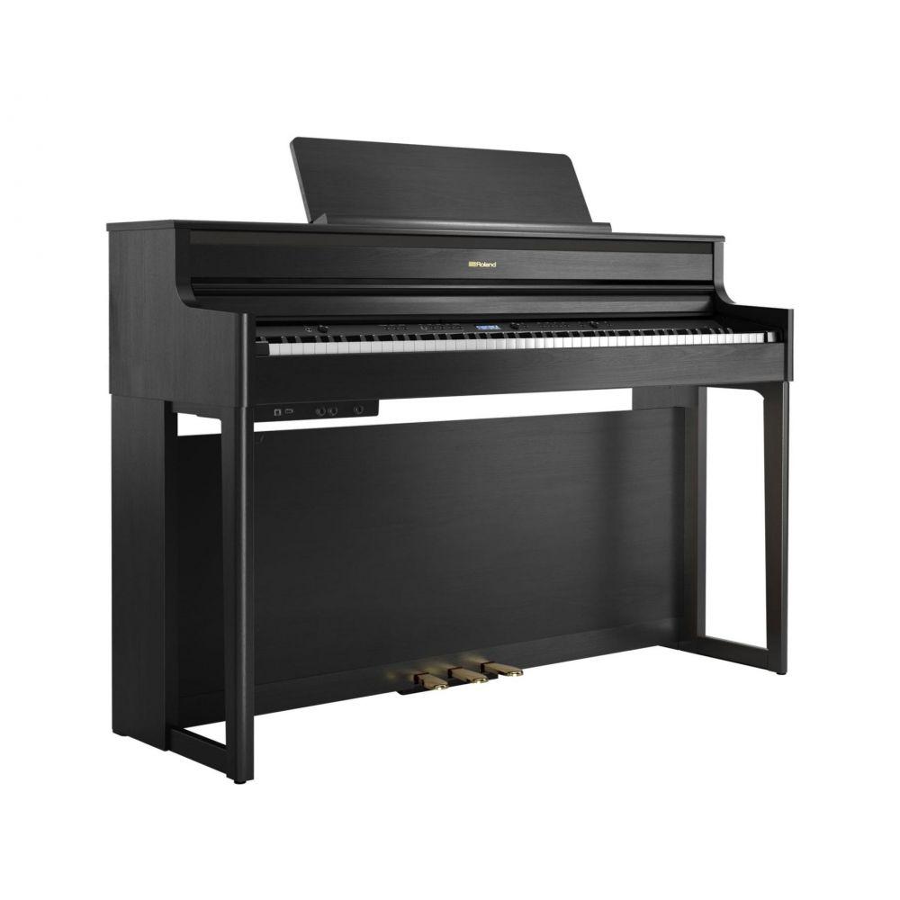 Piano Digitale Roland HP704-CH con mobile charcoal black