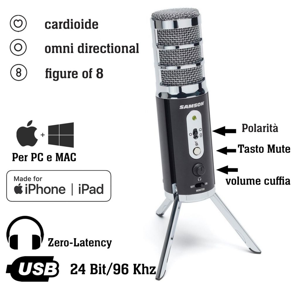 Microfono Samson SATELLITE condensatore USB