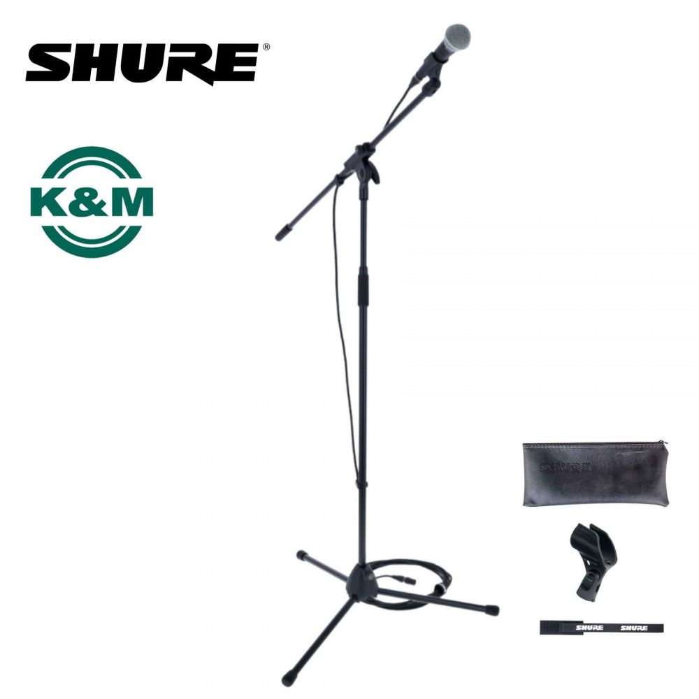 Kit microfono Shure SM58 con cavo e asta K&M
