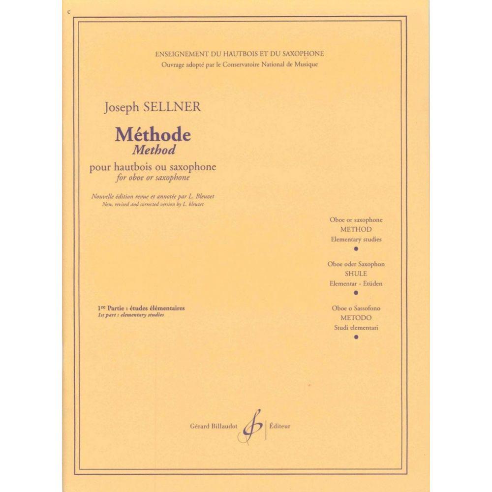 Sellner Methode Sax Studi Elementari Vol.1