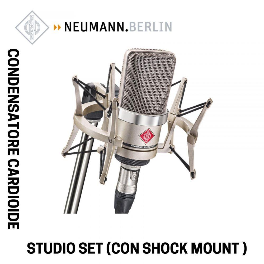 Microfono Neumann TLM102 STUDIO SET con sospensione elastica EA4