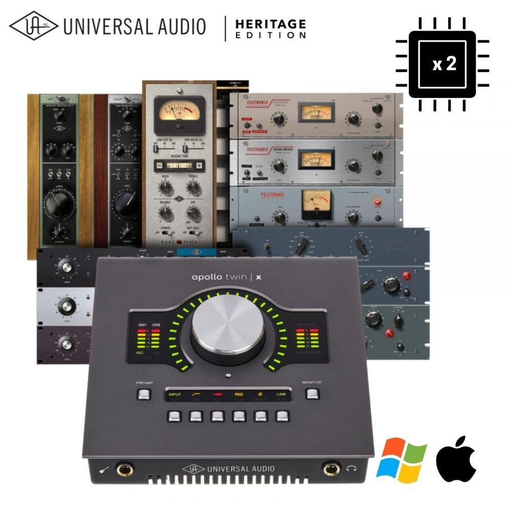 Scheda Audio Universal Audio Apollo Twin Duo MKII Thunderbolt Heritage Edition