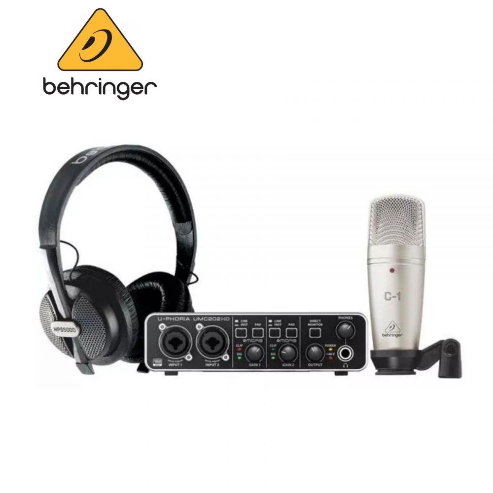 BUNDLE Behringer U-PHORIA STUDIO PRO scheda +microfono+cuffia
