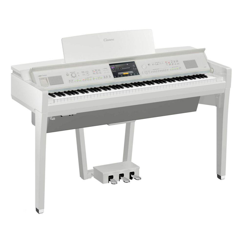Piano Digitale Yamaha CVP809PWH con mobile bianco lucido