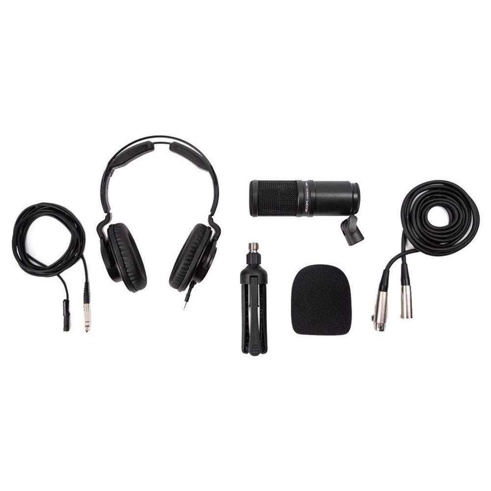 BUNDLE PODCAST Zoom  ZDM-1 Microfono+cuffia+supporto da tavolo