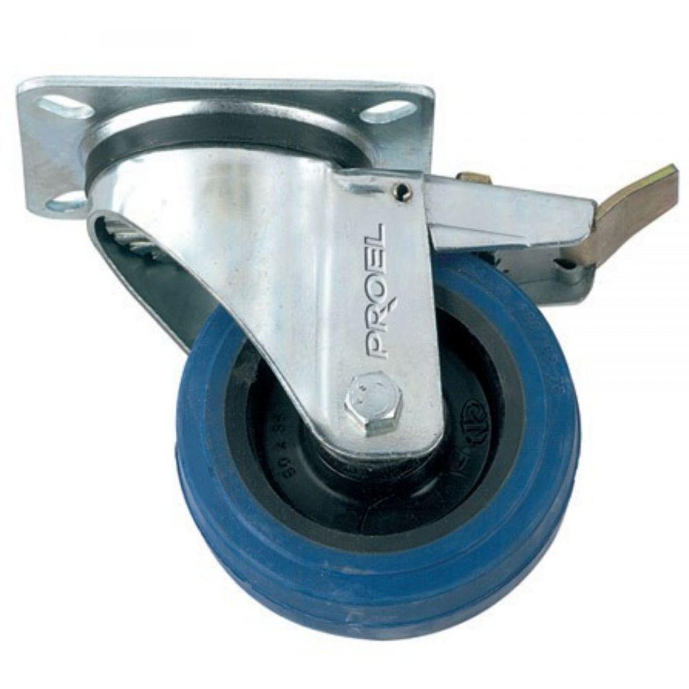 Ruota Proel AC103FS 100 mm girevole con frenlo , blu