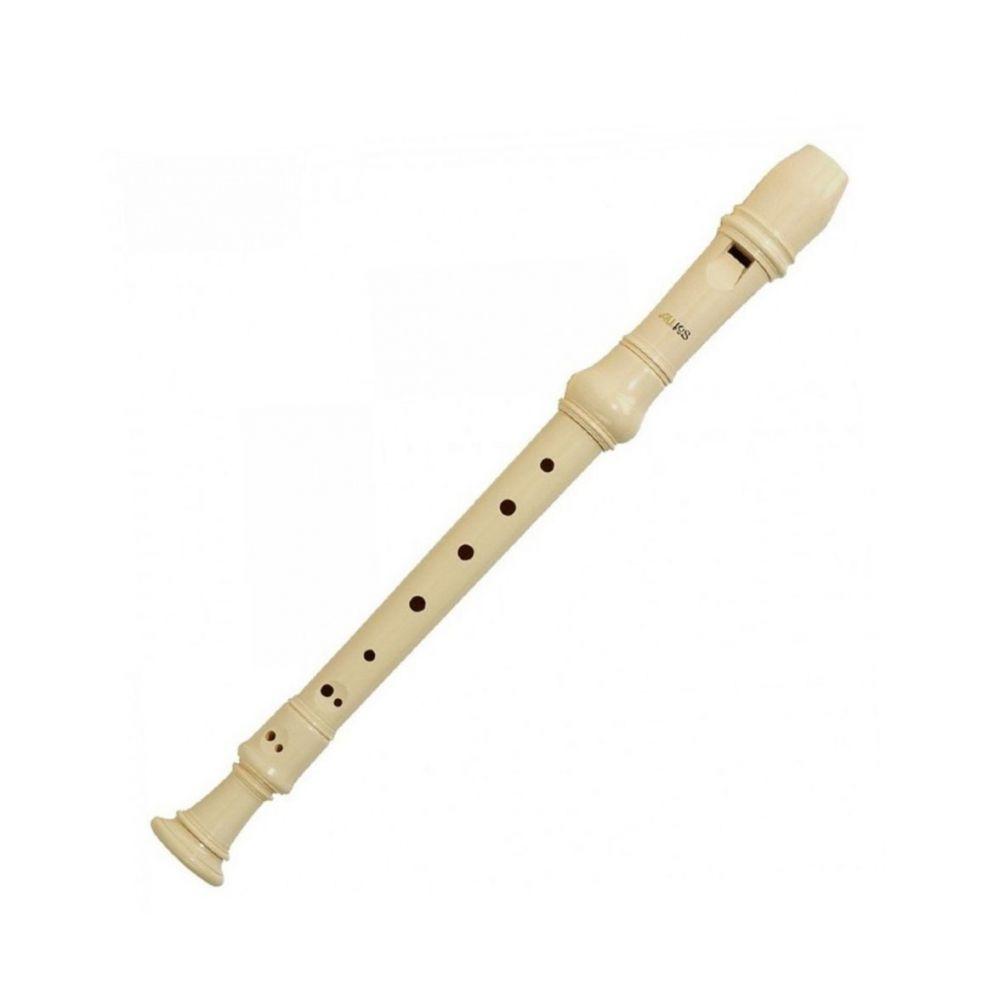 Flauto Dolce Aulos soprano diteggiatura tedesca G302A 3 pezzi avorio