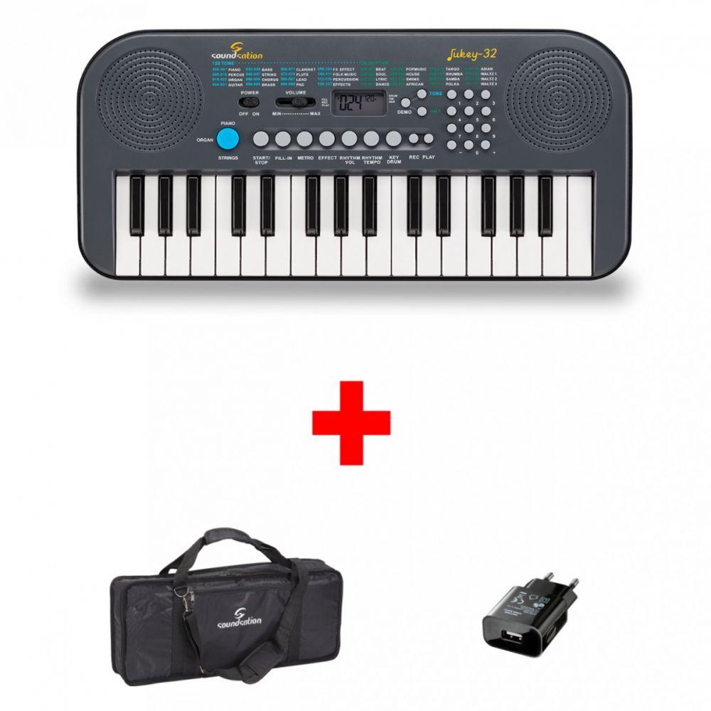 Tastiera Soundsation JUKEY-32 BUNDLE 32 tasti con alimentatore e borsa
