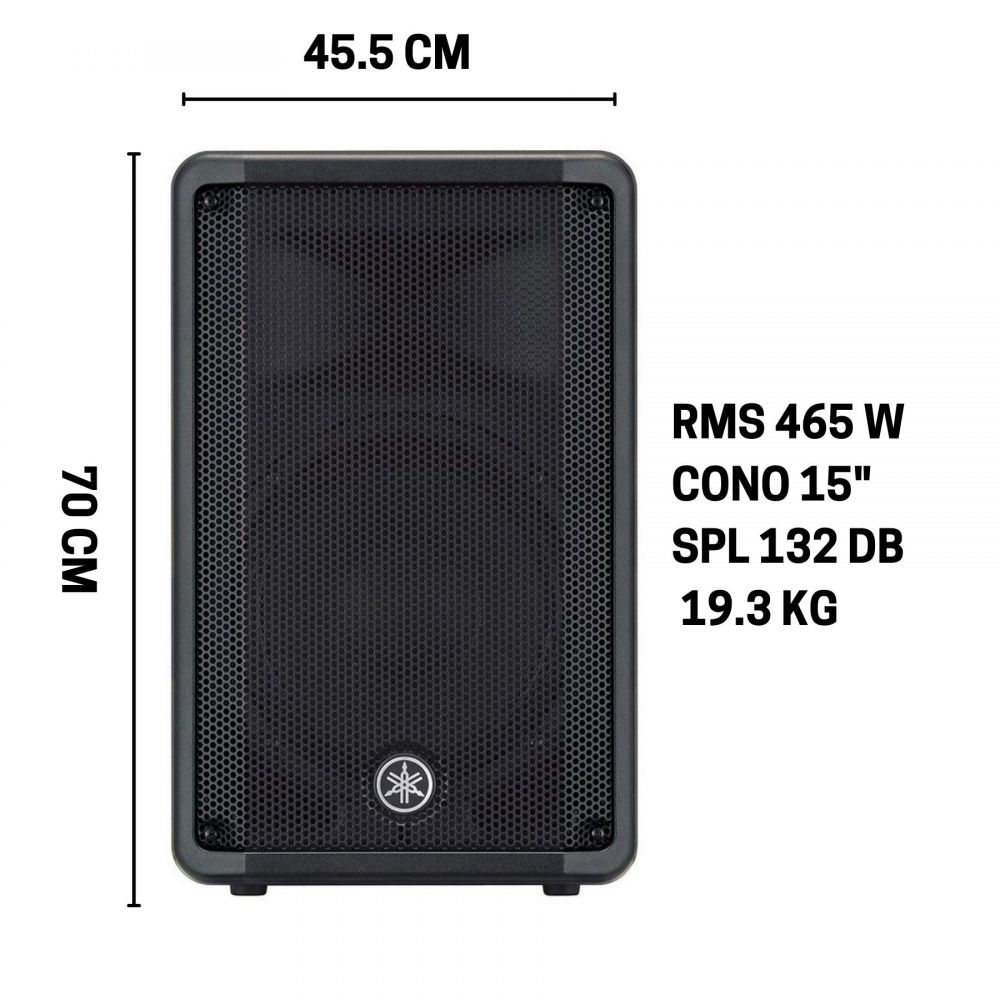 "Diffusore Yamaha DBR15 - RMS 465 W - CONO 15"" - SPL 132 DB"