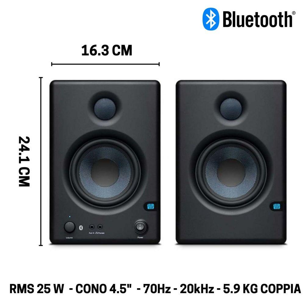 "Coppia Monitor Presonus ERIS 4.5 BT - 4,5"" 50w bluetooth"