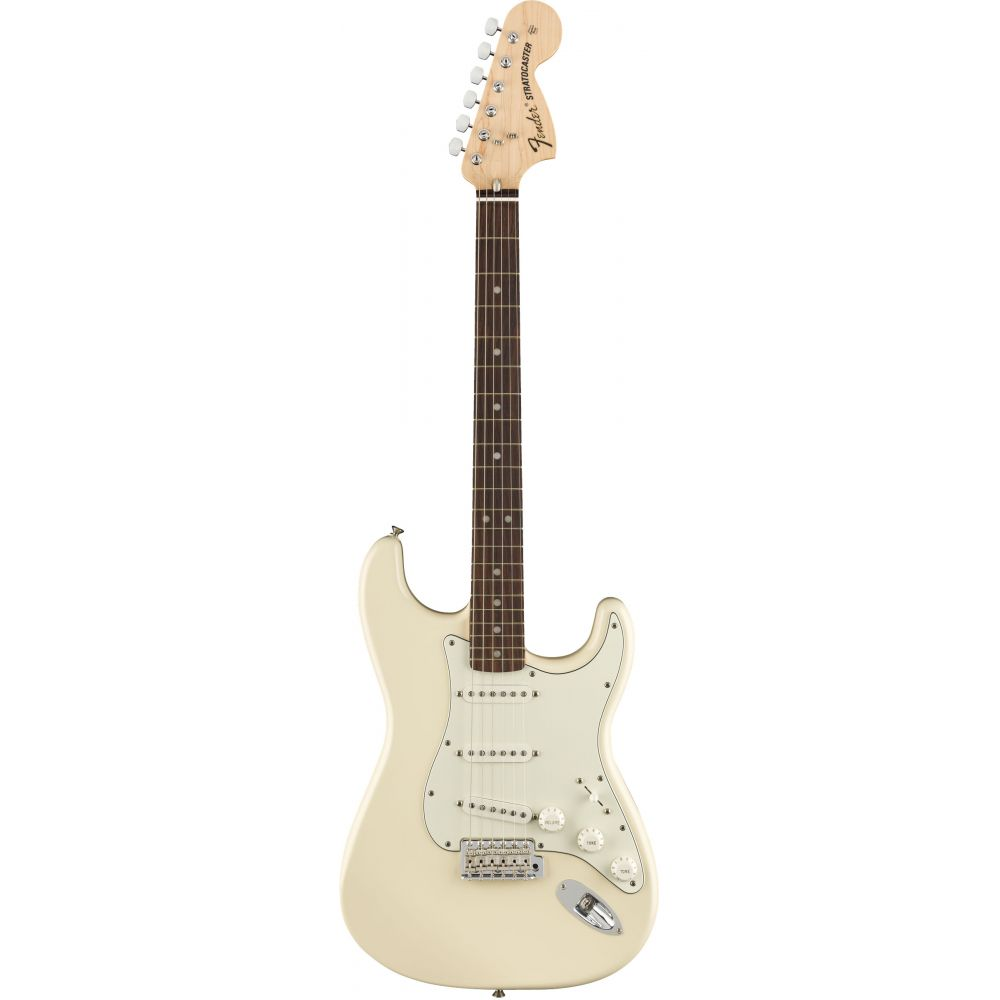 Chitarra Elettrica Fender Stratocaster Albert Hammond JR rw olympic white