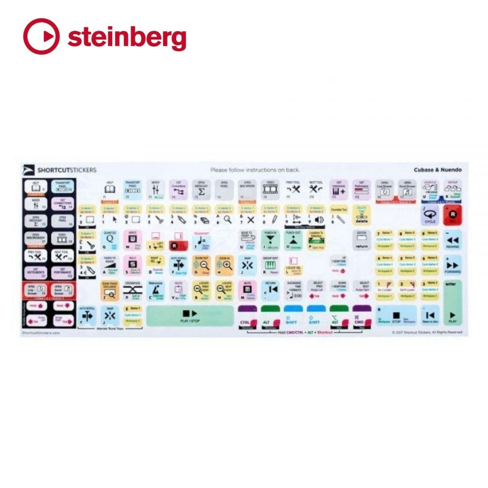 Adesivi scorciatoia tastiera Steinberg SHORTCUTSTICKERS Cubase&Nuendo