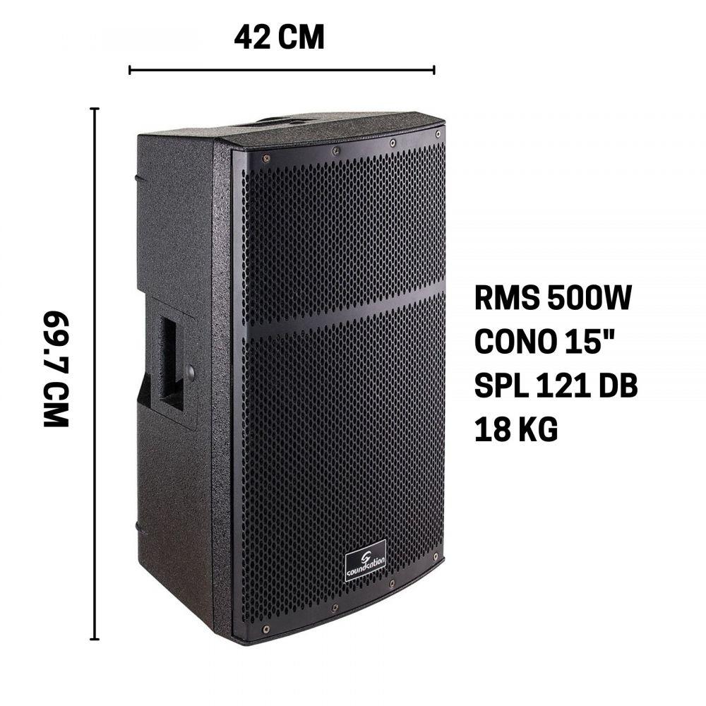 """Diffusore Soundsation TOP15A - RMS 500W - CONO15"""" - SPL121DB"""