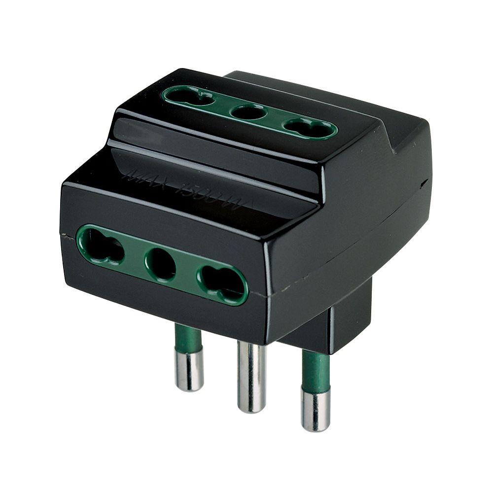 Vimar 00321 Adattatore multipresa S17+3P17/11 black