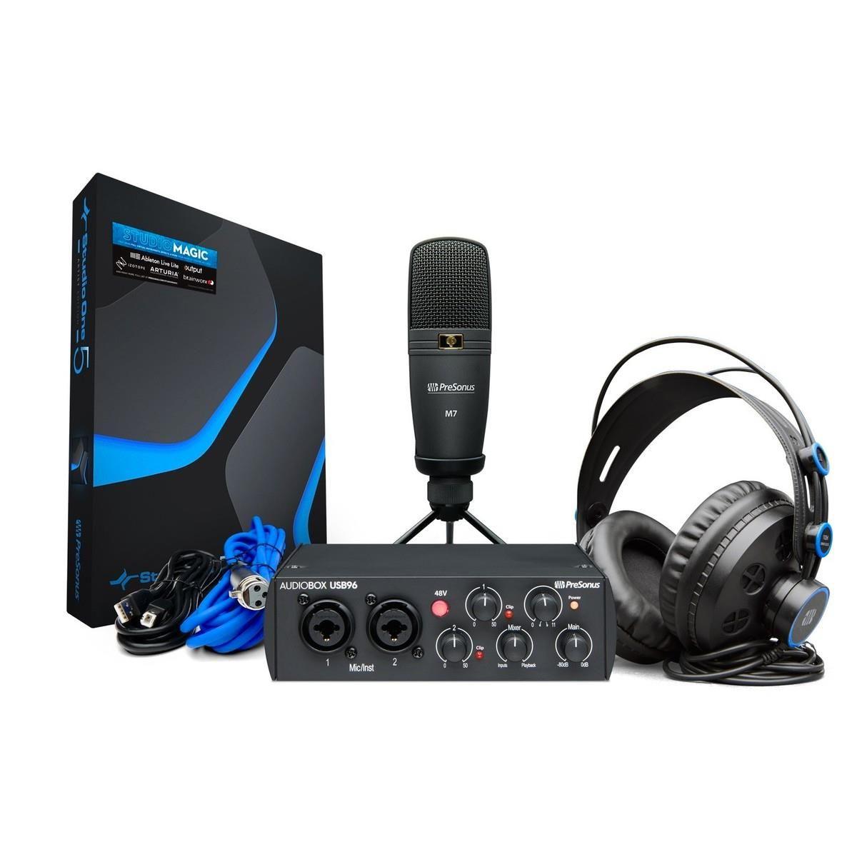 BUNDLE Presonus AUDIOBOX 96 STUDIO black scheda +microfono+cuffia