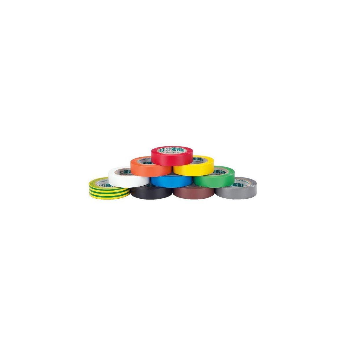 Nastro isolante PVC Adavance colorato 15 mm 10 pezzi