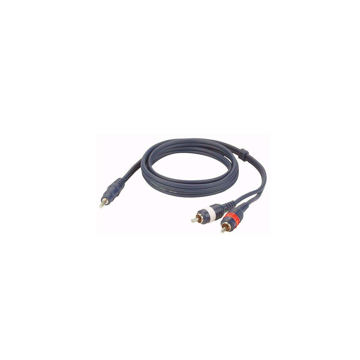 Cavo 2 rca M/ mini jack stereo 1,5 mt Dap Audio