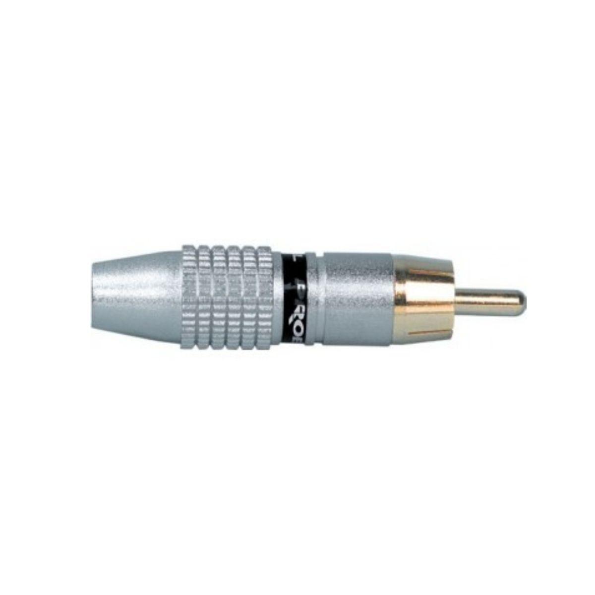 RCA maschio oro argento anello nero Proel MRCA35BK