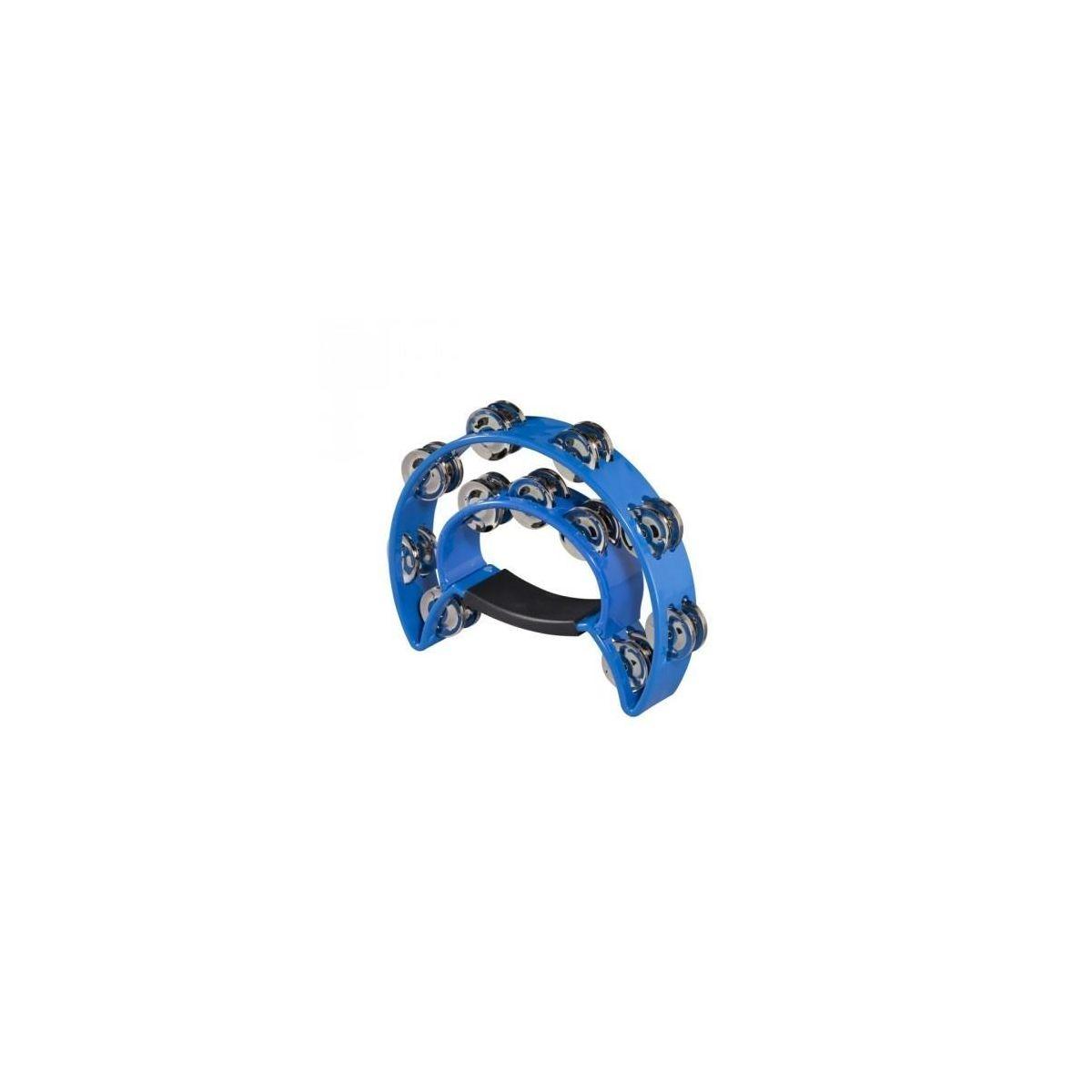 Cembalo Peace mezzaluna doppia fila sonagli plastica blu