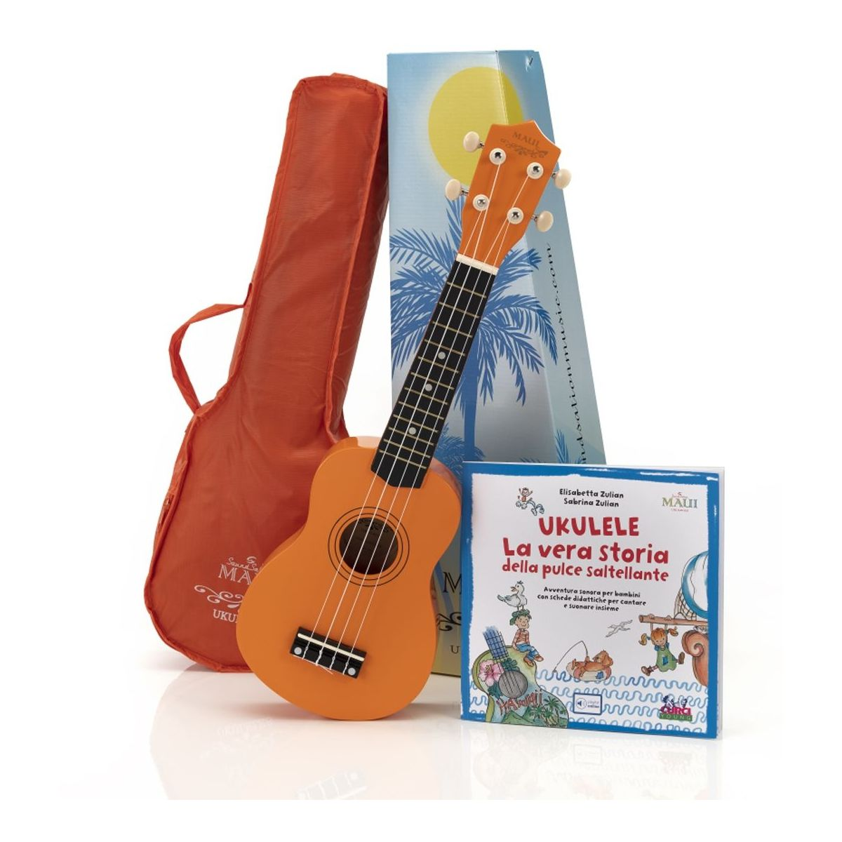 Ukulele soprano Maui SUNNY 10 con borsa arancio