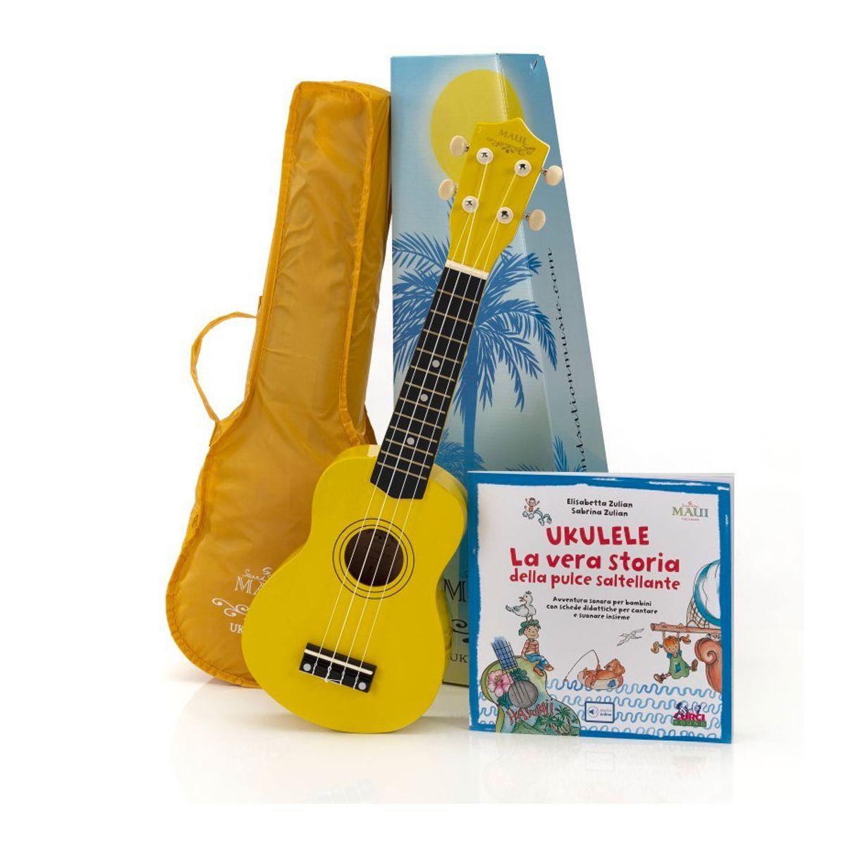 Ukulele soprano Maui SUNNY 10 con borsa yellow